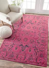 Nuloom Outdoor Rugs by Amazon Com Nuloom Pink Hand Tufted Kimberly Overdyed Style Rug