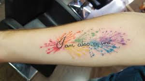rainbow watercolor tattoo tattoo collections