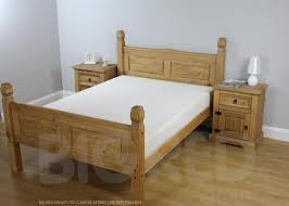 Corona Mexican Pine Bedroom Furniture Corona Mexican 4 6 Bed High Foot End Co Uk Electronics