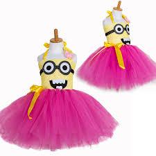 Girls Minion Halloween Costume Aliexpress Buy Baby Princess Minion Tutu Dress Children