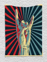 wall hanging tapestry music rock n roll sign metal home decor ebay