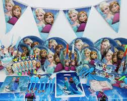 luxury disney frozen 78pcs anna elsa baby birthday party