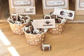 football favors how to make chocolate football candy for a football party