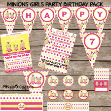 minion birthday party pack minion birthday personalized