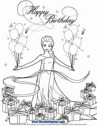 disney frozen birthday coloring pages best coloring disney frozen
