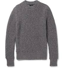 tom ford sweater tom ford slim fit ribbed mélange and wool blend sweater
