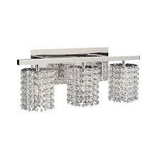 Chrome Bathroom Vanity Light Shop Plc Lighting 3 Light Rigga Polished Chrome Standard