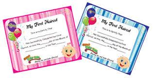 children s first haircut certificates haircuts models ideas