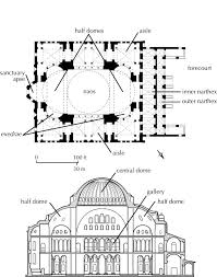 early byzantine plan of hagia sophia constantinople istanbul c