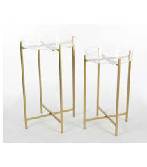 Acrylic Accent Table Metal Clear Acrylic Accent Table Tray Set