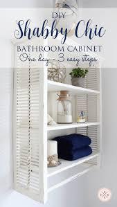 Shabby Chic Bathroom Furniture Diy Shabby Chic Bathroom Cabinet 3 Easy Steps