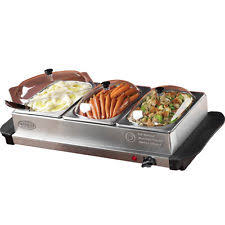 kenley 3 pan x 1 5l electric chafing dish buffet warming tray