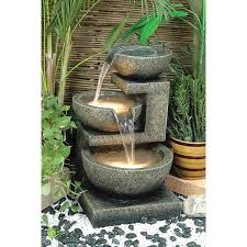 Outdoor Water Features With Lights by Alfresco Home Resin Rocca Outdoor Tiered Fountain With Light