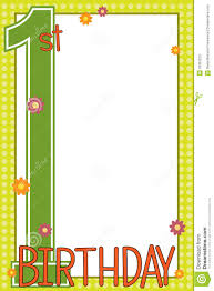 first birthday card stock photos image 16397223