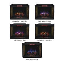 classicflame 33 in infrared spectrafire plus electric fireplace
