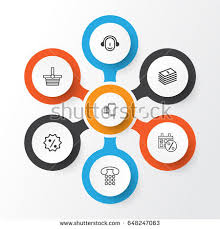 oxo black friday info graphic about web marketing icons stock vector 163793921