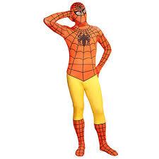 Spandex Halloween Costumes Multicolor Lycra Spandex Spiderman Zentai Suits Orange Yellow