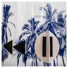 palm shower curtain blue white room essentials target