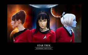 Red Shirt Star Trek Meme - star trek redshirt triptych by chirinstock on deviantart