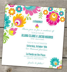 mexican wedding invitations folklorica mexican flowers wedding invitation multiculturally wed