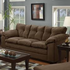 Upholstery Encino Living Room Simmons Flannel Charcoal Sofa With Sofas Sectionals