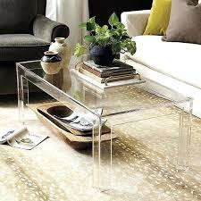 lucite waterfall coffee table acrylic waterfall coffee table felicity acrylic coffee table clear