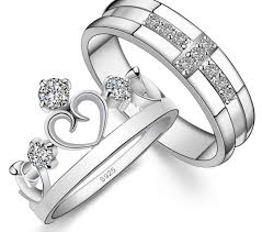 wedding bands sets his and matching matching ring sets his hers matching sterling silver