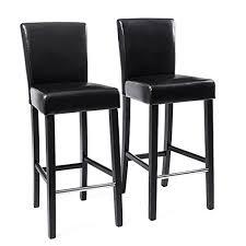 chaise rembourrée songmics 2x tabourets de bar en pu avec dossier chaise rembourrée