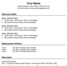 Resume Skill Section How To Do A Resume For A Job For Free Resume Template And