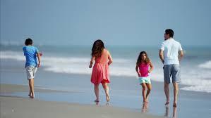 attractive hispanic family travel leisure resort time