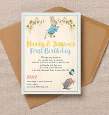 peter rabbit u0026 jemima puddle duck party invitation 0 80