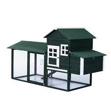 amazon com pawhut wooden backyard poultry hen house chicken coop