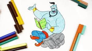 coloring genie from the arabian nights disney u0027s genie coloring