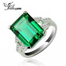 emerald silver rings images Jewelrypalace luxury 5 9ct created emerald cocktail ring 925 jpg