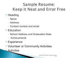 Resumes For Teenagers Resume Writing For Teens