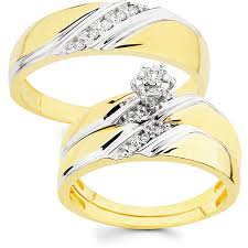 Wedding Rings Pictures by 10k Gold 1 8ct Tdw His And Her Wedding Ring Set H I I1 Ladie U0027s