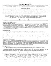 Perfect Resume Examples Perfect Machine And Equipment Operator Resume Example With