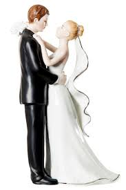 porcelain cake topper white and silver porcelain and groom wedding cake topper