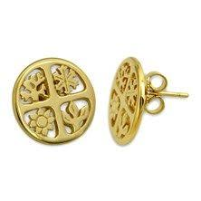 avery stud earrings avery 14k sterling silver and gold fashion