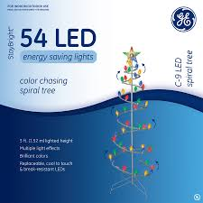 shop ge 5 ft metal led spiral tree at lowes