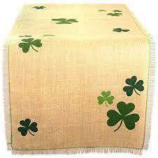 st patrick s day table runner amazon com dii 14x74 jute burlap table runner green shamrock