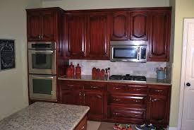 Red Mahogany Kitchen Cabinets by Lavish Modern Small Kitchen Ideas Featuring U Shaped Elegant Red