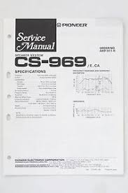 pioneer cs 969 original speaker system service manual guide