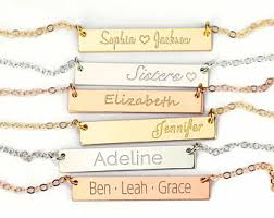 name plate jewelry name plate necklace etsy