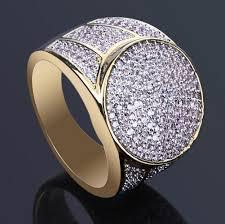 luxury gold rings images 2018 18k gold rings for men luxury hiphop ring full diamond cool jpg