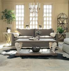 acanto french country acanthus leaf reclaimed wood coffee table