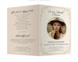a funeral program white funeral program template photoshop psd instant