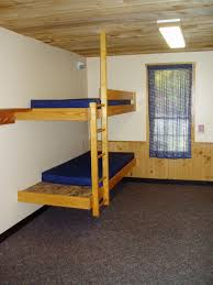 Wood Bunk Bed Designs by Superb Fun Bunk Beds With Blue Mattress Near Wall Lamp Plus Nice
