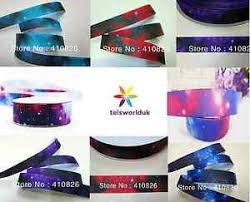 galaxy ribbon 1m space galaxy ribbon grosgrain 7 8 22mm cos play hair bow