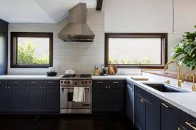 navy blue kitchen cabinets navy blue kitchen cabinets with no upper cabinets transitional